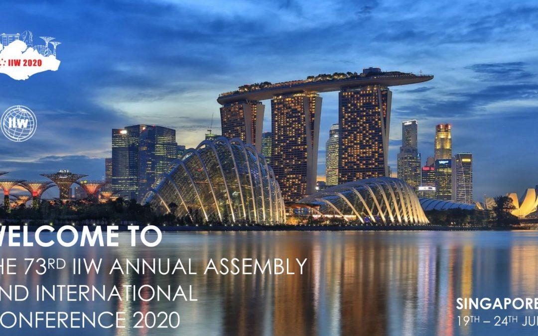 Pozvánka na Výroční shromáždění amezinárodní konferenci 73. Mezinárodního institutu svařování (IIW)