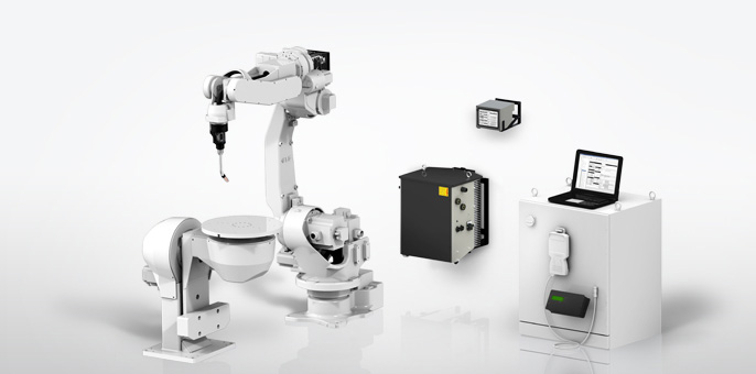 Předvádění robotického svařovacího pracoviště SKS WELDING Systems s.r.o. vMladé Boleslavi